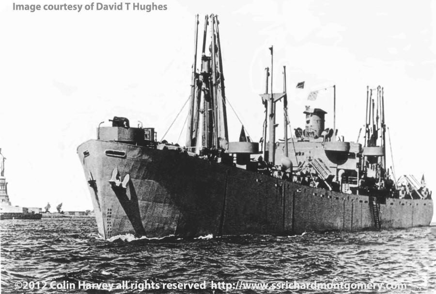 liberty ship SS Richard Montgomery - New York Harbour