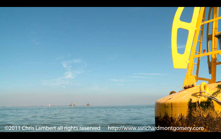 ss richard montgomery wreck from warning marker buoy towards southend on sea